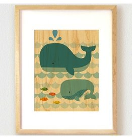 Petit Collage Whale Baby Print 11x14