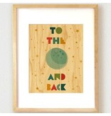 Petit Collage Moon Print 11x14
