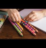 Eeboo Otters at Play 6 Jumbo Double Pencils