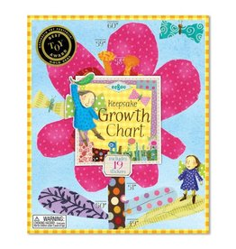 Eeboo Growth Chart - Hot Pink Flower