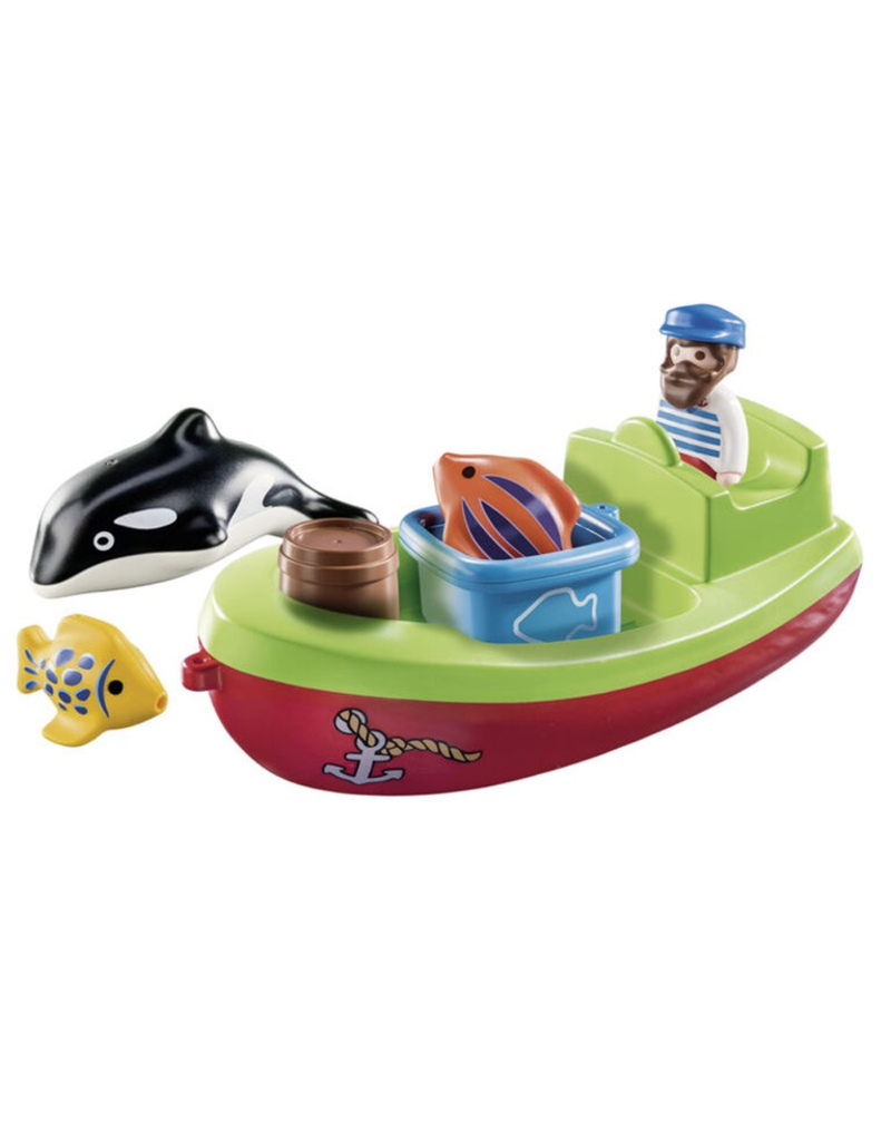 Playmobil 1.2.3. Fisherman with Boat