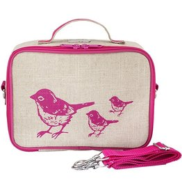 So Young Pink Birds Lunchbox