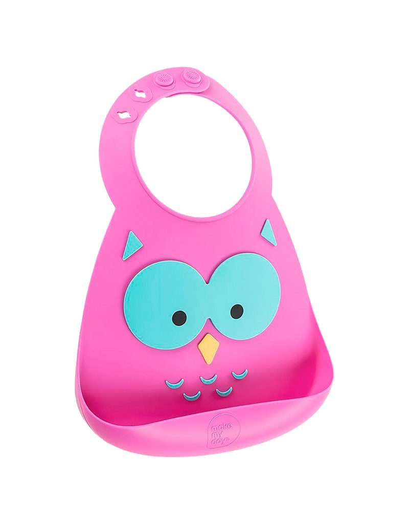 Make My Day Silicone Bib, What A Hoot