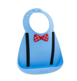 Make My Day Silicone Bib, Little Genius Blue Scholar