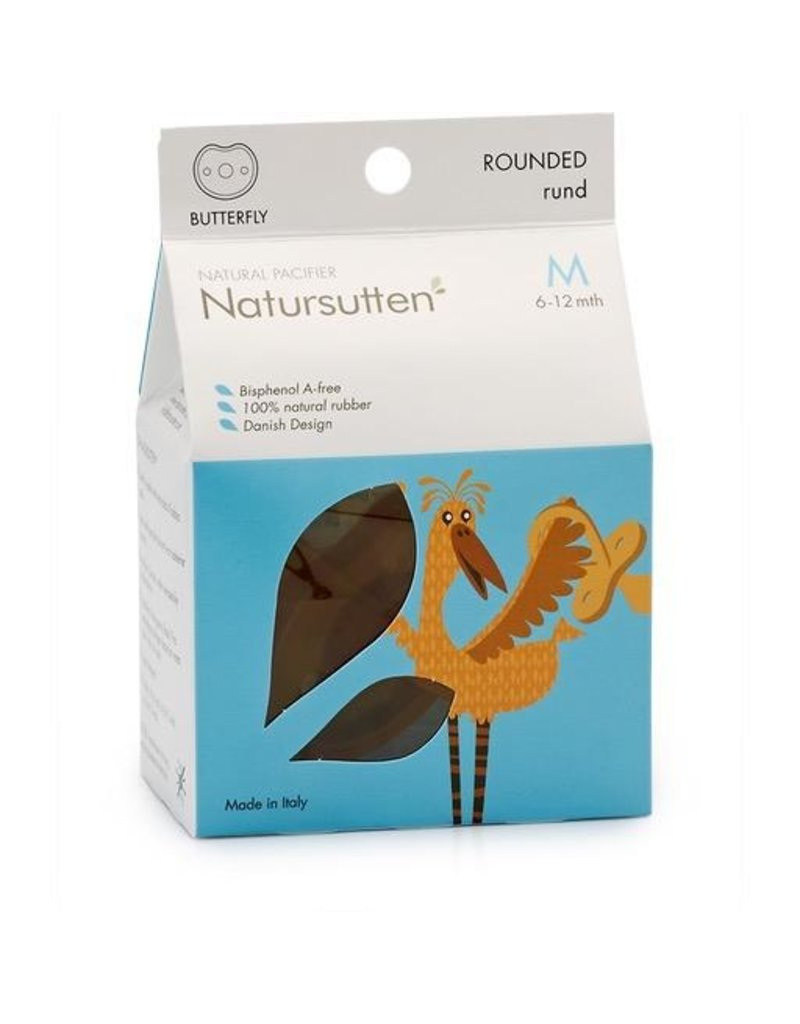 Butterfly Round Soother, natural, M (6-12m)