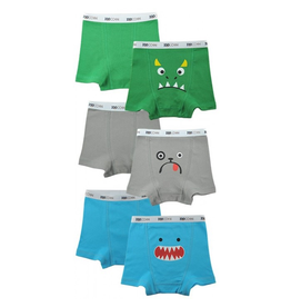 Zoocchini Monsters Organic Boxers 3pk