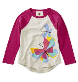 Tea Collection Butterfly Raglan Tee Size 6