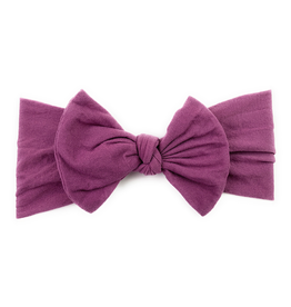 Bow Headband, Midnight Mauve, 0-3y