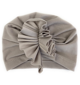 Hat with Ruffles, Grey, 3-12m