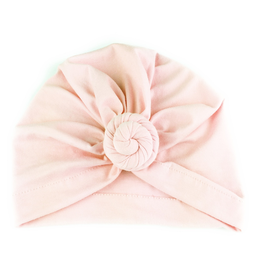 Turban Knot Hat, Light Pink, 3-12m