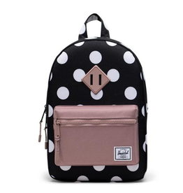 Herschel Heritage Kids Polka Dot Black/Ash Rose