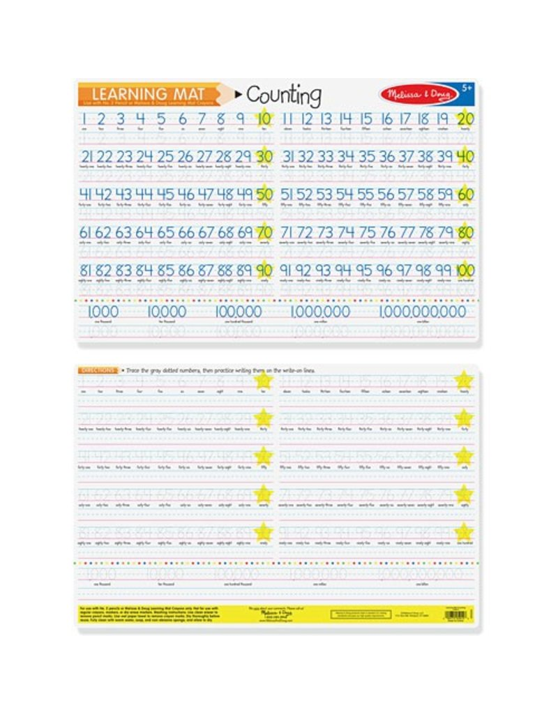 Melissa & Doug Counting to 100 Placemats