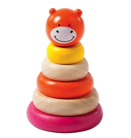 Manhattan Toys Giggle Wood Stacker Pink