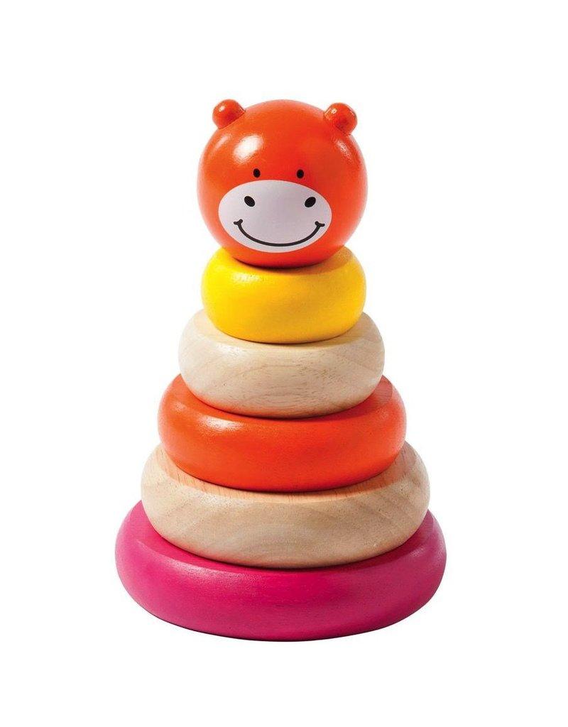 Manhattan Toys Giggle Wood Stacker Pink