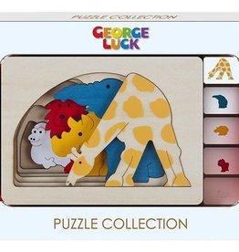 Hape Toys George Luck Grasslands Layer Puzzle