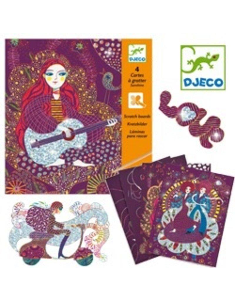 Djeco Scratch Cards - Sunshine