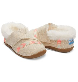 Toms Metallic Burlap Tiny Toms House Slippers