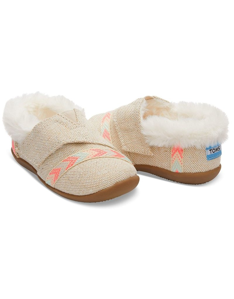 f47070621c5 Toms Metallic Burlap Tiny Toms House Slippers - Vancouver s Best ...