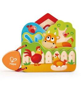 Hape Toys Baby's Farm Animal Book