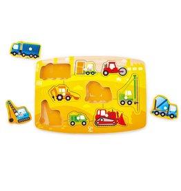 Hape Toys Construction Peg Puzzle