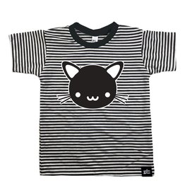 Whistle & Flute Whistle & Flute Kawaii Cat Striped T-shirt