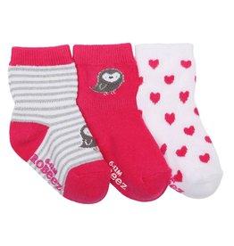 Girl's Sock 3pk - Peace & Love