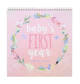 CR Gibson Heartfelt Girl First Year Keepsake Calendar