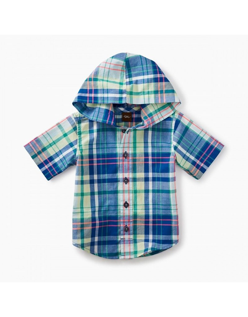 Tea Collection Baby Plaid Hooded Shirt
