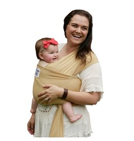 Beluga Baby Bamboo Wrap - The Cassandra (Golden)