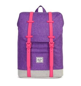 Herschel Youth Retreat Lavender Crosshatch/Pink