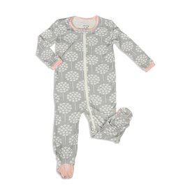 Silkberry Floral Bamboo Footed Sleeper