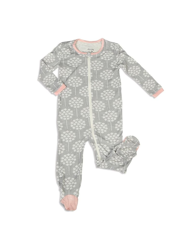 128847390 Silkberry Floral Bamboo Footed Sleeper - Vancouver s Best Baby ...
