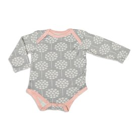 Silkberry Floral Bamboo LS Onesie