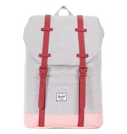 Herschel Youth Retreat Grey Crosshatch/Peach