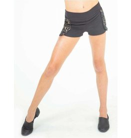 CAPEZIO & BUNHEADS A11510W DAMASK SHORT WITH BUILT IN BRIEF