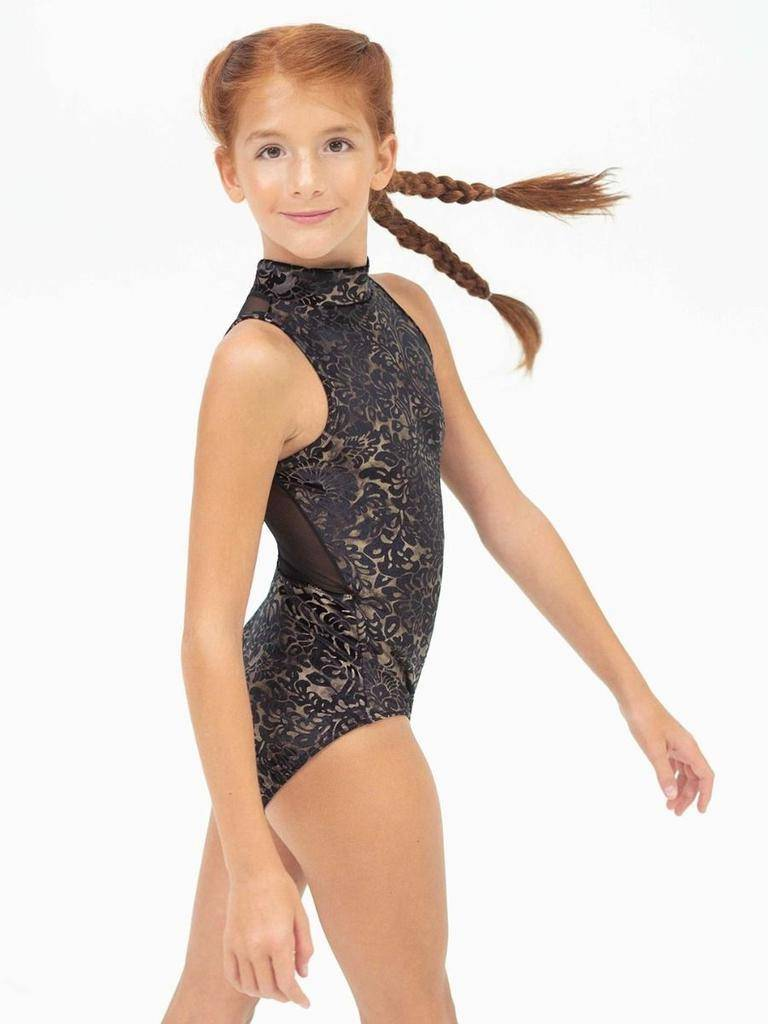 CAPEZIO & BUNHEADS A11463W DAMASK HIGH NECK LEOTARD
