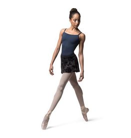 BLOCH & MIRELLA MS113 ROSE FROST FLOCKED MESH PULL ON SKIRT