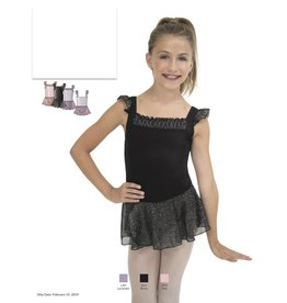 CAPEZIO & BUNHEADS A11498C SMOCKING FLUTTER SLEEVE DRESS