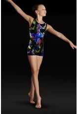 LEO'S DANCEWEAR GB126C BIKETARD FOIL TANK