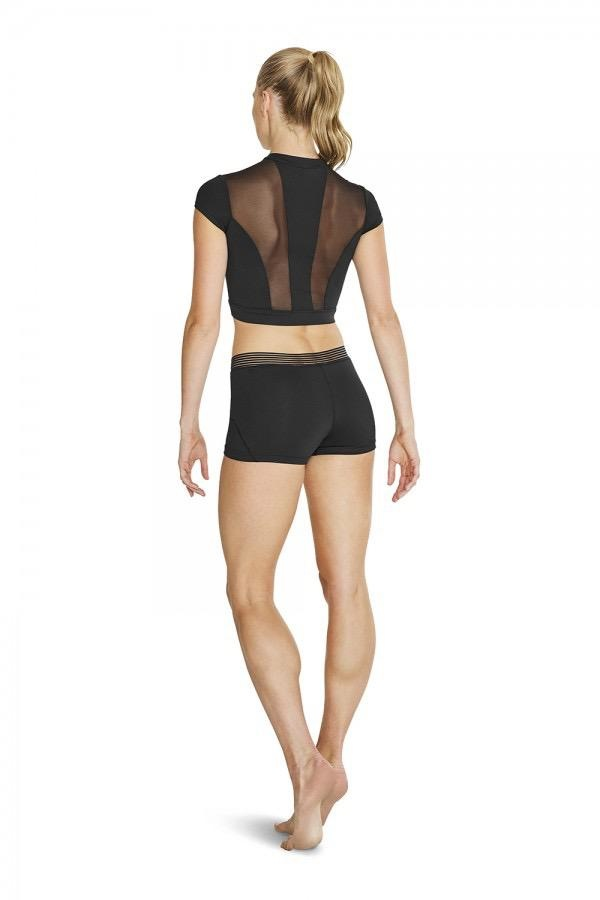 BLOCH & MIRELLA FT5104 ZIP FRONT CROP TOP