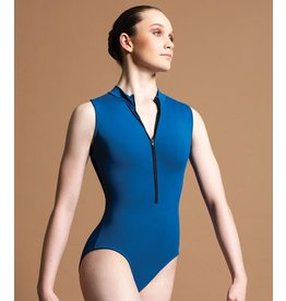 MOTIONWEAR 2632 DEVON RACERBACK ZIP FRONT MOCK NECK LEOTARD