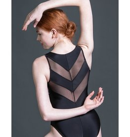 SUFFOLK 2206 FLORAL VELVET CHEVRON TANK LEOTARD