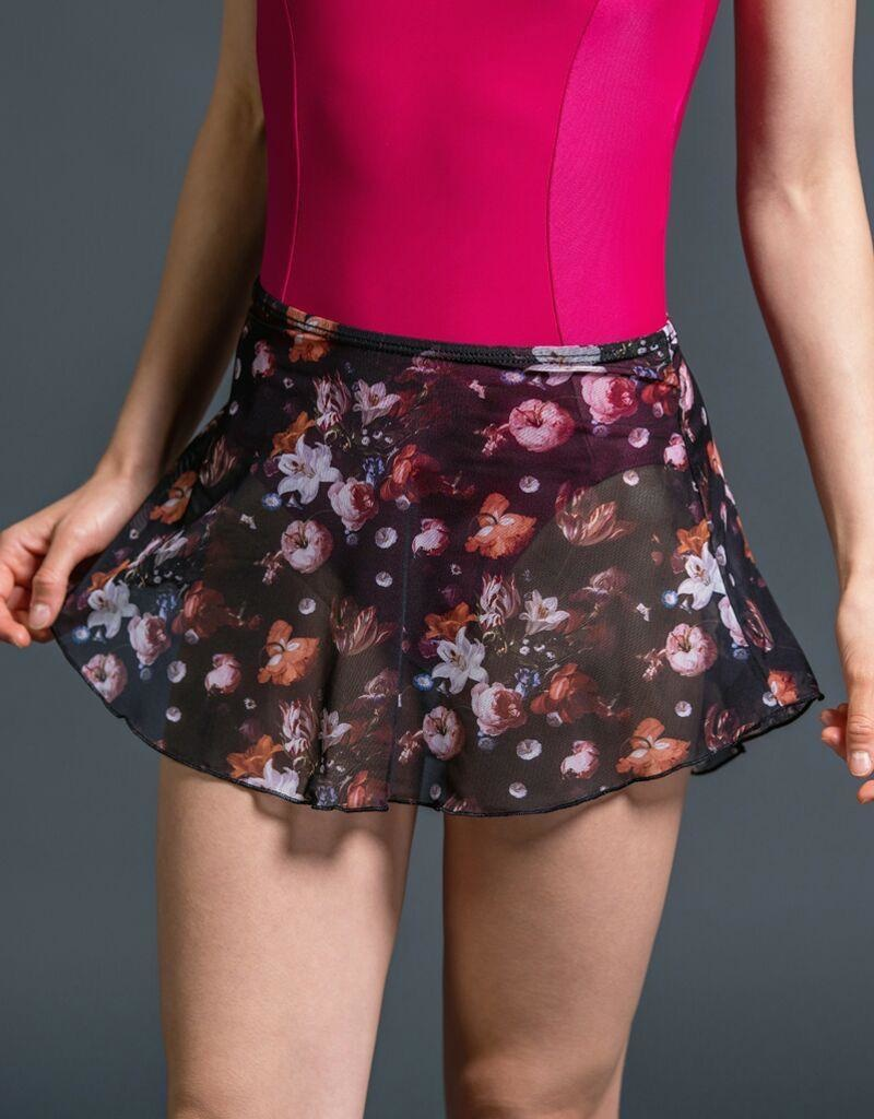 SUFFOLK 1009 FLORAL MESH PULL ON SKIRT