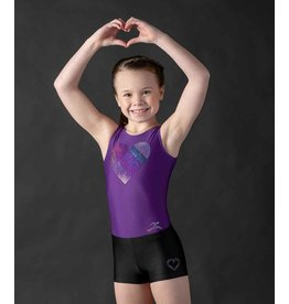 MOTIONWEAR 1702 SPARKLES & SPANGLES GYM HEART TANK LEOTARD