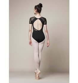 BLOCH & MIRELLA M5073LM  OPEN BACK LACE CAP SLEEVE
