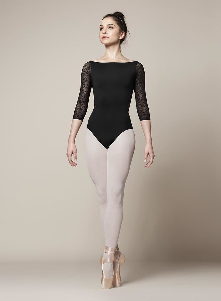 BLOCH & MIRELLA M1013LM  ZIPPER BACK  LACE 3/4 SLEEVE