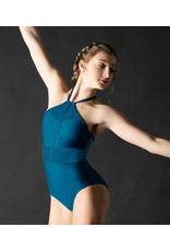 MOTIONWEAR 2499 ANGLED PANEL HALTER LEOTARD
