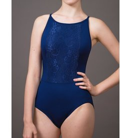 SUFFOLK 2289A SUFFOLK ADULT HOLIDAY HIGH NECKLINE AND LACE PANEL FRONT LEOTARD
