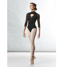 BLOCH & MIRELLA L4856 LONG MESH SLEEVE LEOTARD