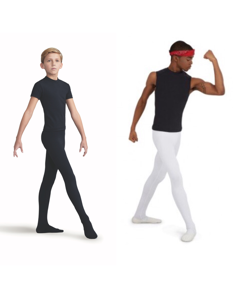CAPEZIO & BUNHEADS A10361B BOYS TACTEL FOOTED TIGHTS